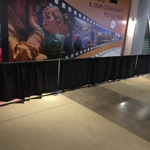 3' Pipe and Drape Stanchion Rental
