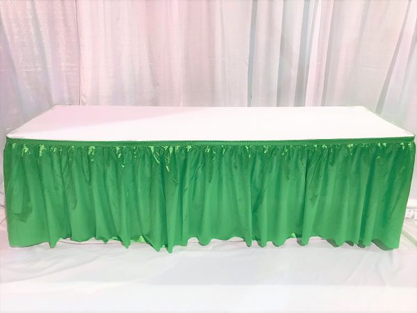 6ft Covered and Skirted Table