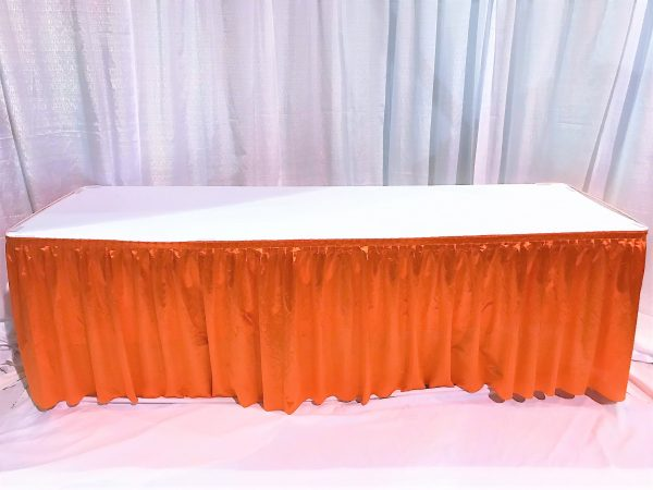 8ft Covered and Skirted Table